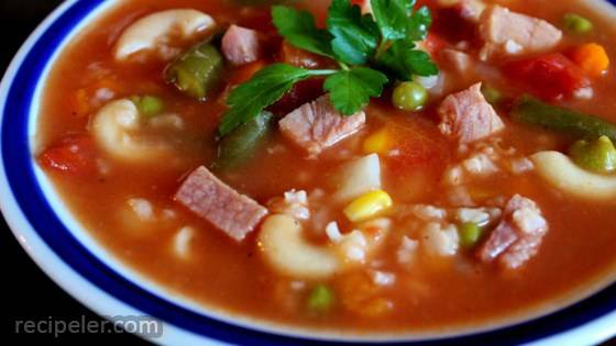 after the holidays ham bone soup