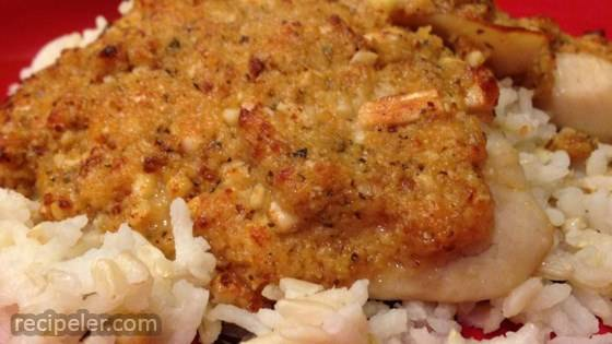 Almond and Parmesan Crusted Tilapia