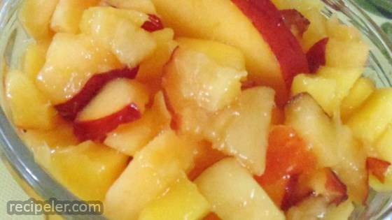 Alyssa's Mango Peach Salsa