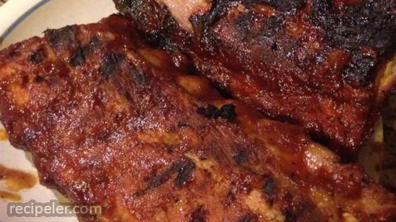Apple and BBQ Sauce Baby Back Ribs