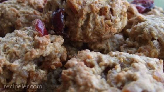 Apple-Cran-Cherry Oatmeal Cookies