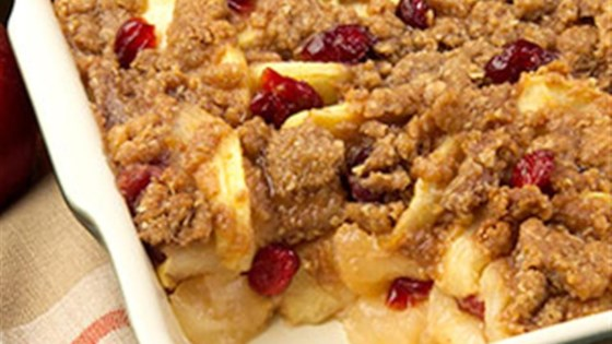apple-cranberry crisp by pam®