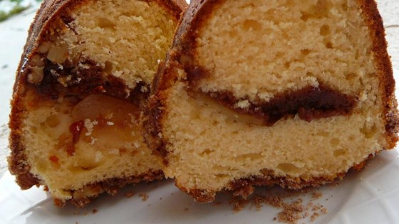 apple sour cream streusel cake