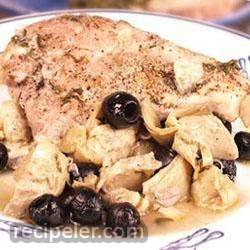 Artichoke and Black Olive Baked Chicken