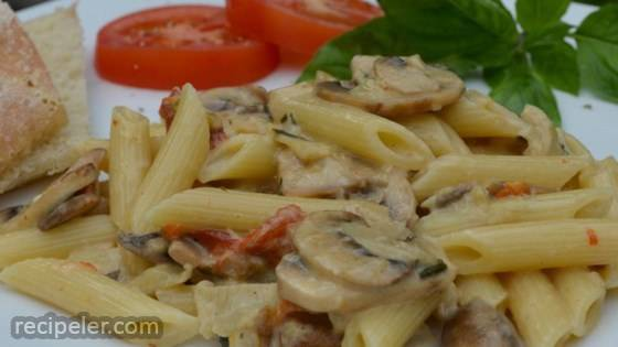 Artichoke And Roasted Red Pepper Pasta