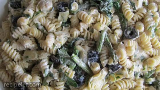 Artichoke Asparagus Pasta Salad