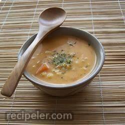 ash-e-jow (ranian/persian barley soup)
