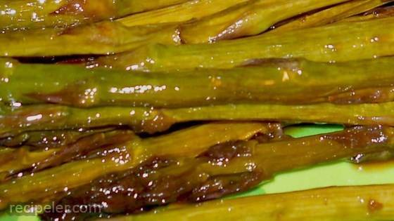 Asian nspired Grilled Asparagus
