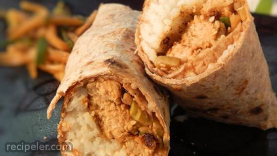Asian Salmon Wrap