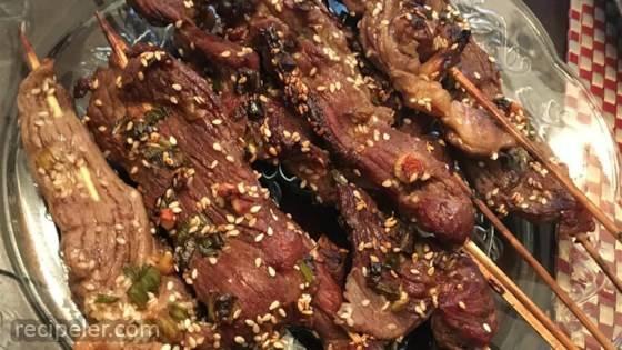 Asian Steak Skewers
