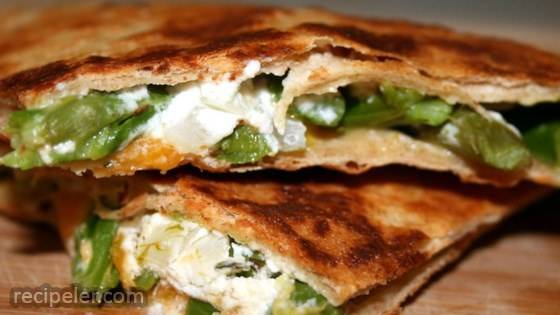 Asparagus and Goat Cheese Quesadillas