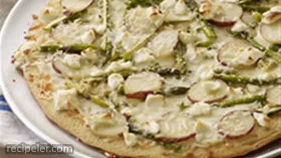 Asparagus, Potato and PHLLY Pizzeria Pizza