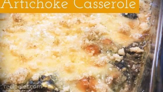 Asparagus-Spinach-Artichoke Casserole