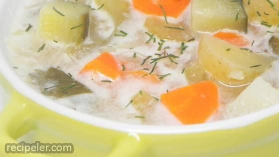 Authentic Polish Pickle Soup (Zupa Orgorkowa)