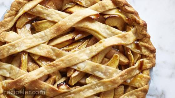 Autumn Apple And Pear Lattice Pie
