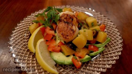 Avocado, Mango, and Scallop Salad