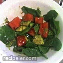 Avocado Watermelon Spinach Salad