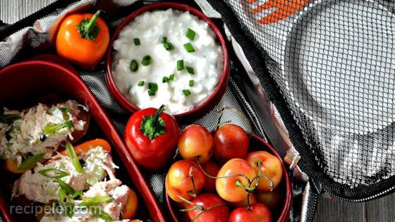 Baby Bell Peppers with Chicken Salad
