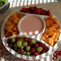 baby shower raspberry dip