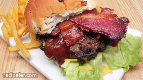 Bacon-Cheddar Bison Burgers