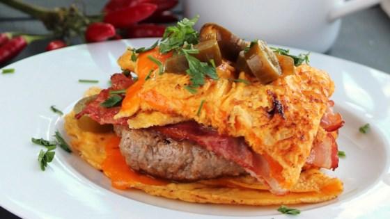 bacon cheeseburger omelet