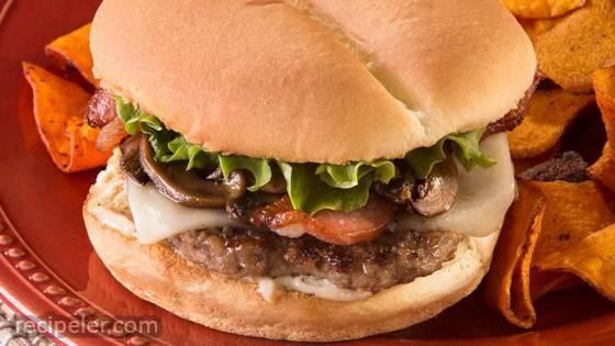 Bacon-Mushroom-Swiss Burger
