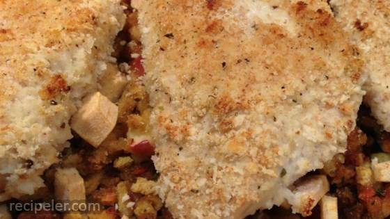 Baked Chicken with Apple Stuffing
