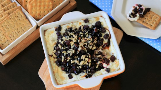 baked goat cheese and roasted beet dip