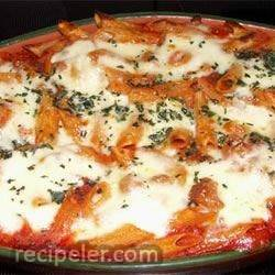 Baked Penne with talian Sausage