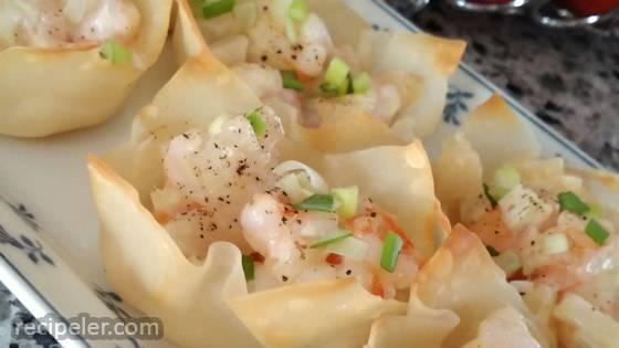 Baked Shrimp Wontons