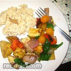 Balsamic Roasted Vegetable Salad