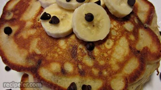 Banana Chocolate Chip Pancakes
