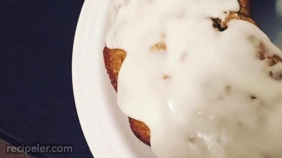 Banana Coconut Cake with Vanilla Glaze
