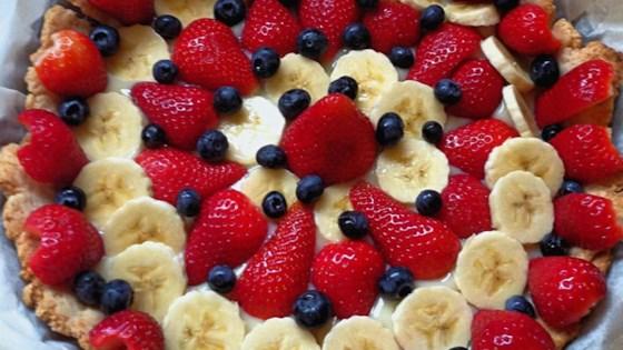 Banana Kiwi Strawberry Tart