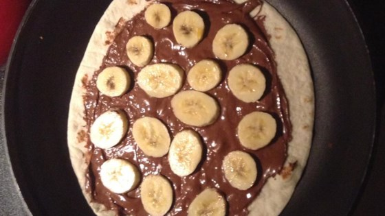 Banana-nutella® Tortilla Pizza