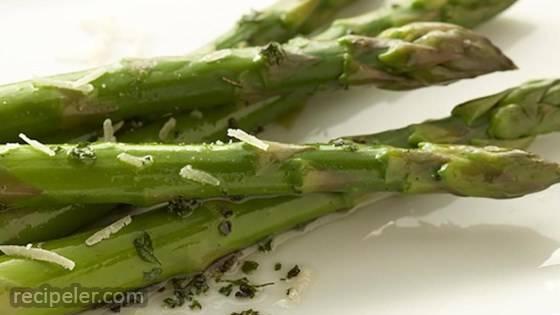 Basil and Parsley Asparagus