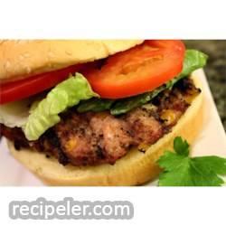 BBQ Feta and Hot Banana Pepper Turkey Burgers