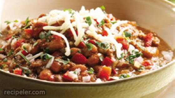 Beef and Bean Chile Verde