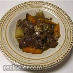 Beef Heart Braised in Wine
