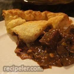 beef, mushroom and guinness® pie