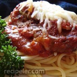 Beef Parmesan with Garlic Pasta