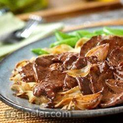 Beef with Caramelized Shallots