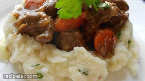 Beer Braised Rish Stew And Colcannon