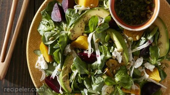Beet and Fennel Salad with Goat Cheese