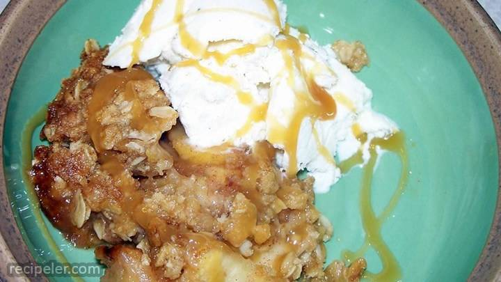 best ever caramel apple crisp