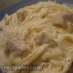 Black and Bleu Chicken Alfredo