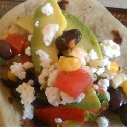 Black Bean And Corn Vegetarian Summer Tacos