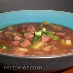 Black Bean, Sausage, and Sweet Potato Soup