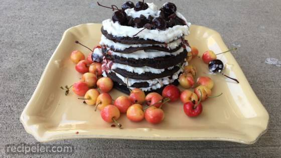 Black Forest Pancake Cake
