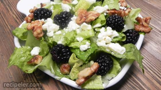 Blackberry Almond Crunch Salad